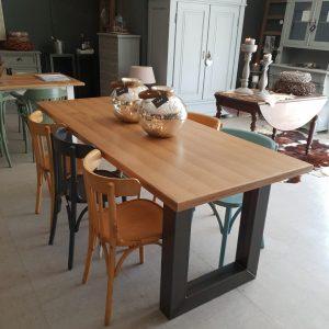 Industriële tafel Bordeaux (aanbieding)